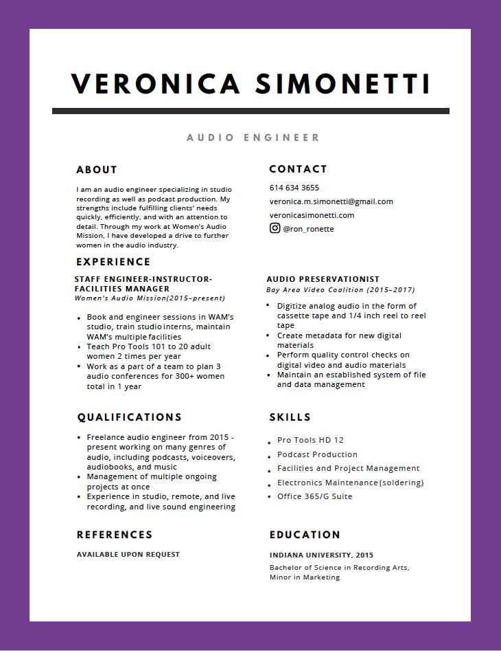 VS Resume