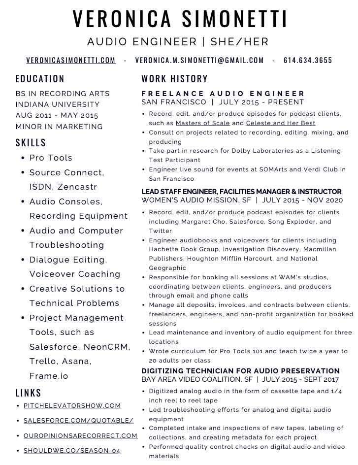 VS Resume 2020